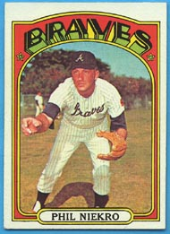 1972 Topps Baseball Cards      620     Phil Niekro